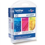 Image de Brother LC1100RBWBP - Pack 3 Couleurs
