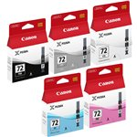 Image de Canon PGI-72 PBK/GY/PM/PC/CO - MultiPack 5 couleurs