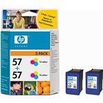 Image de HP n° 57 (C9503AE) - Twin pack 3 couleurs