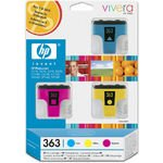 Image de HP n° 363 (CB333EE) - Pack 3 cartouches