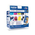 Image de Brother LC980VALBP - Pack Noir + 3 Couleurs